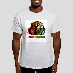 Ras Lion of Judah Ash Grey T-Shirt