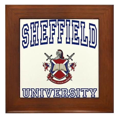 SHEFFIELD University Framed Tile