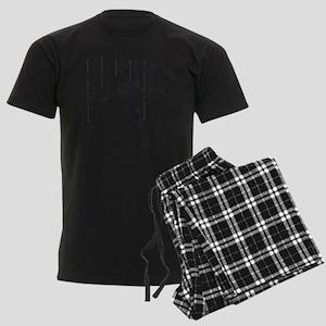 Shotokan dojo kun Men's Dark Pajamas