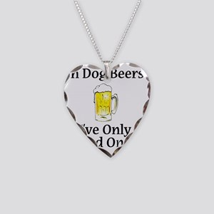 Dog Beers Necklace Heart Charm