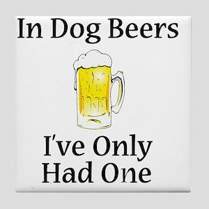 Dog Beers Tile Coaster