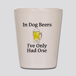 Dog Beers Shot Glass