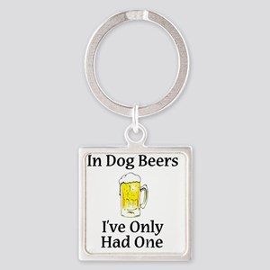 Dog Beers Square Keychain