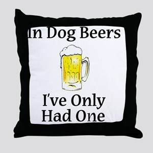 Dog Beers Throw Pillow