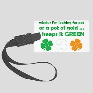Pot_Green Large Luggage Tag