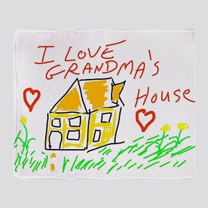 I Love Grandma's House Throw Blanket