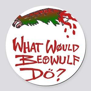 Beowulf Round Car Magnet