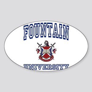 FOUNTAIN University Oval Sticker