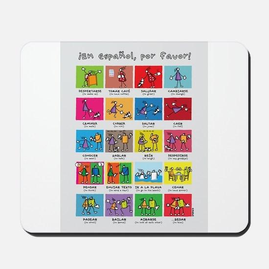En español por favor poster Mousepad