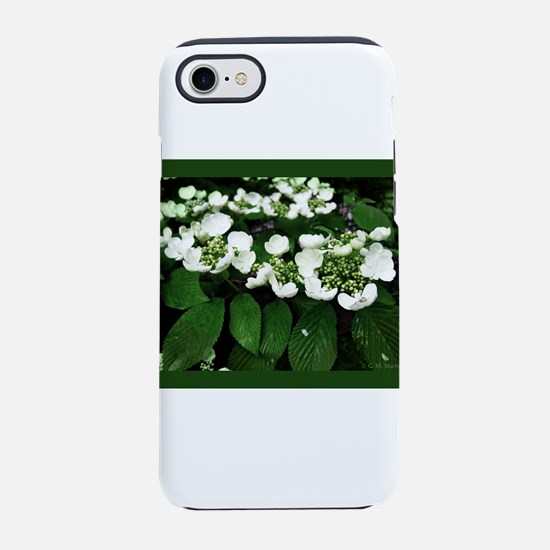 White Flowers iPhone 7 Tough Case