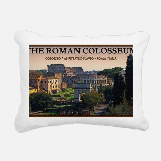 Rome - Forum and Colosse Rectangular Canvas Pillow