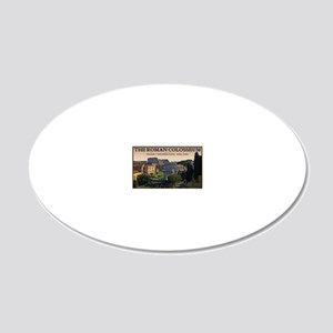 Rome - Forum and Colosseum 20x12 Oval Wall Decal