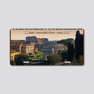 Rome - Forum and Colosseum Aluminum License Plate
