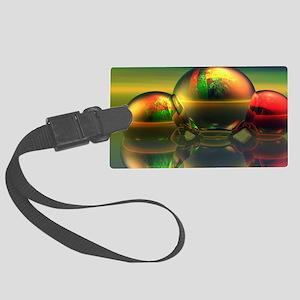 reflecting-ball Large Luggage Tag