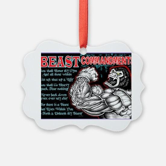 4-Commandments of the BEAST Ornament