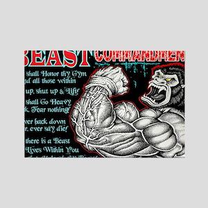 4-Commandments of the BEAST Rectangle Magnet