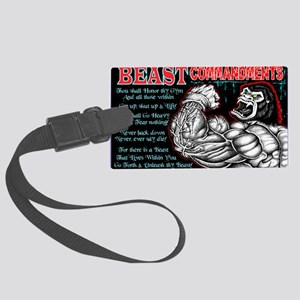 4-Commandments of the BEAST Large Luggage Tag