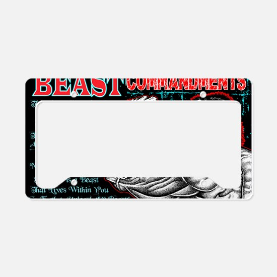 4-Commandments of the BEAST License Plate Holder