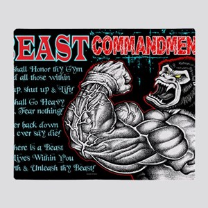 4-Commandments of the BEAST Throw Blanket