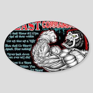 4-Commandments of the BEAST Sticker (Oval)