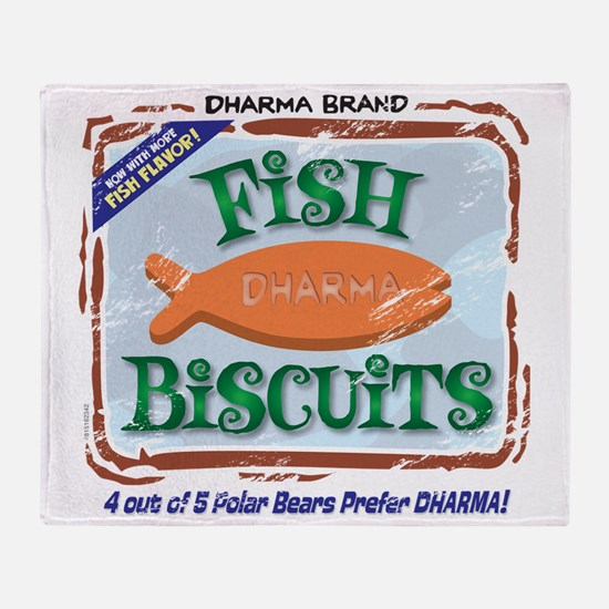 fishbiscuits Throw Blanket