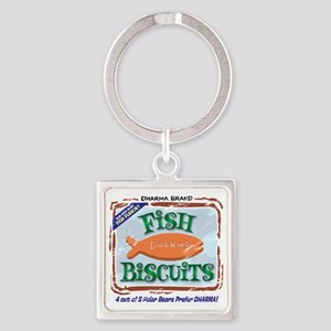 fishbiscuits Square Keychain
