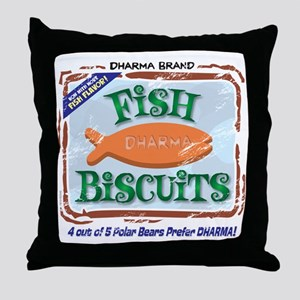 fishbiscuits Throw Pillow