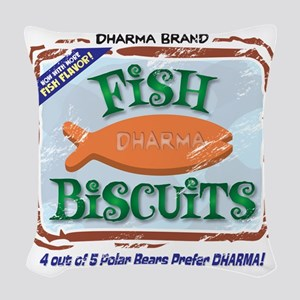 fishbiscuits Woven Throw Pillow