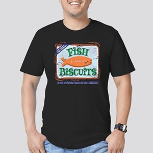 fishbiscuits Men's Fitted T-Shirt (dark)