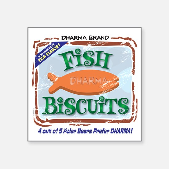 "fishbiscuits Square Sticker 3"" x 3"""