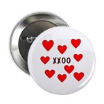 "Hugs and Kisses 2.25"" Button"