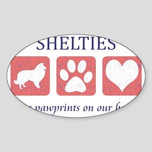 FIN-sheltie-pawprints-CROP Sticker (Oval)