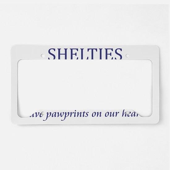 FIN-sheltie-pawprints-CROP License Plate Holder
