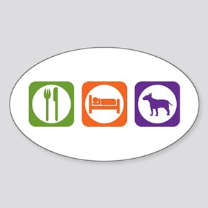 Eat Sleep Terrier Oval Sticker
