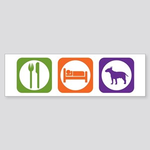 Eat Sleep Terrier Bumper Sticker