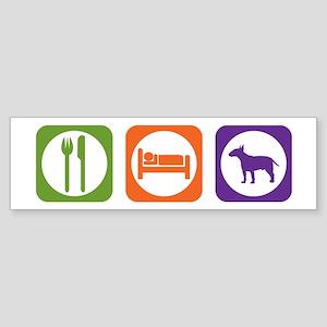 Eat Sleep Terrier Bumper Sticker