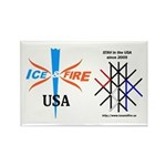 I&F Double Logo Rectangle Magnet (100 pack)