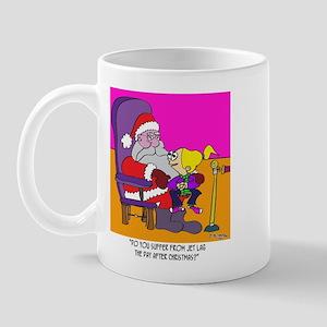 Santa and Jet Lag Mug