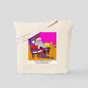 Santa and Jet Lag Tote Bag