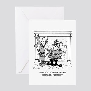 Santa Finds a Fire Hazard Greeting Card