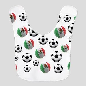 Mexican soccer balls Polyester Baby Bib