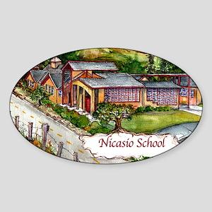 NICASIO Logo copy Sticker (Oval)
