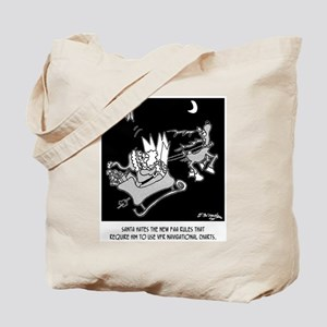 Santa Required to Use Navigational Charts Tote Bag