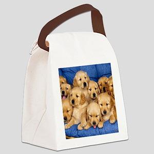golden retreiver puppies Canvas Lunch Bag