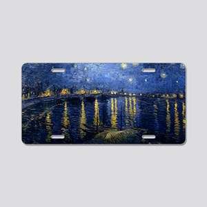 Starry Night Over the Rhone Aluminum License Plate