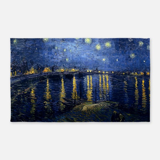 Starry Night Over the Rhone 3'x5' Area Rug