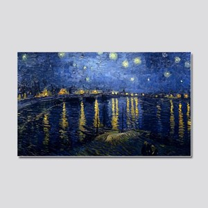 Starry Night Over the Rhone Car Magnet 20 x 12