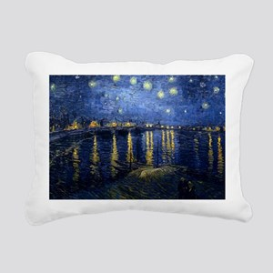 Starry Night Over the Rh Rectangular Canvas Pillow