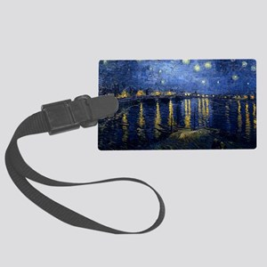 Starry Night Over the Rhone Large Luggage Tag
