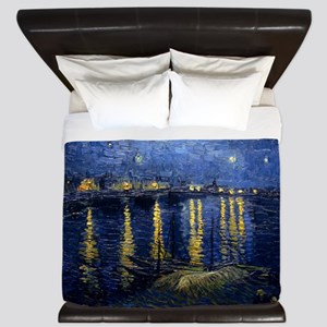 Starry Night Over the Rhone King Duvet